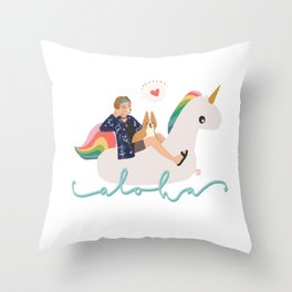 Bon Voyage Taehyung Throw Pillow