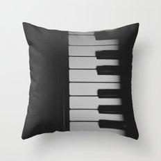 Piano Keys II ANALOG ZINE Throw Pillow