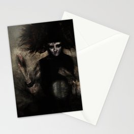 Lady in Black Stationery Cards