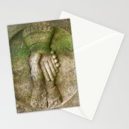 Tombstone Handshake Stationery Cards