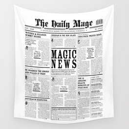 The Daily Mage Fantasy Newspaper Wall Tapestry
