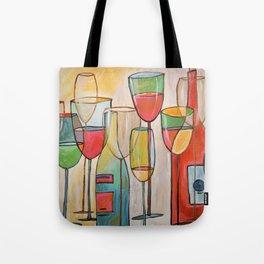 Abstract Modern Wine Art / Wine Tasting Tote Bag