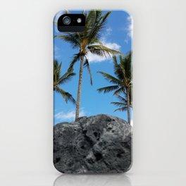 Palms in Blue Sky iPhone Case