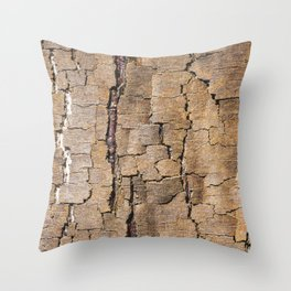 Brown tree trunk Throw Pillow