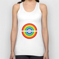pokeball Tank Tops featuring Rainbow Pokeball by Hi 5 Graphics