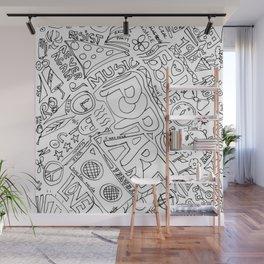 Graffiti: Black And White Wall Mural