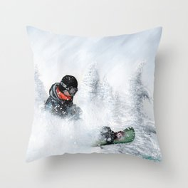 Travis Rice #2 Throw Pillow