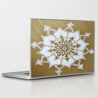 golden Laptop & iPad Skins featuring Golden by Aries Art