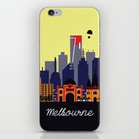 melbourne iPhone & iPod Skins featuring Lovely Melbourne by Jollybird Designs