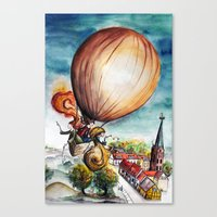 baloon Canvas Prints featuring Baloon by Eva Gamsbøl