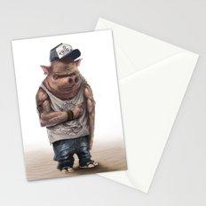 Pig Thug Stationery Cards