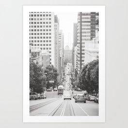 Steep Hills in San Francisco Art Print
