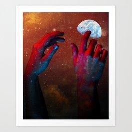 HANDS OF GOD Art Print