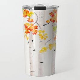 Autumn Birch Song Travel Mug
