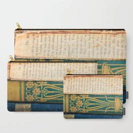 Antique Book Textures Carry-All Pouch