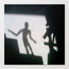 Shadow of the mannikin Canvas Print