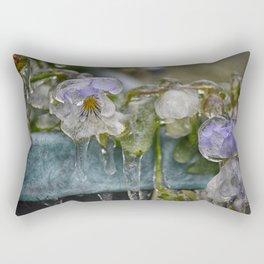 Pansies on Ice Rectangular Pillow