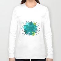 numbers Long Sleeve T-shirts featuring Numbers by Bea Blanco