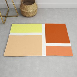 Orange and yellow rectangles Rug