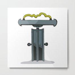 MACHINE LETTERS - T Metal Print