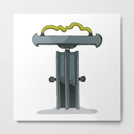 MACHINE LETTERS - T Metal Print