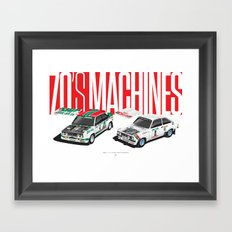 70's Machines Framed Art Print