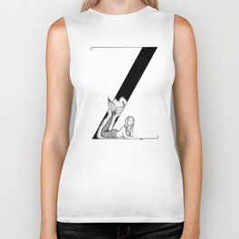 Mermaid Alphabet Series - Z Biker Tank