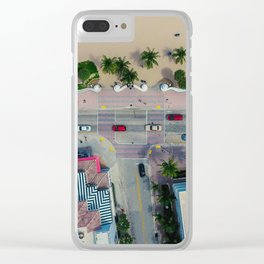 beach house street Clear iPhone Case