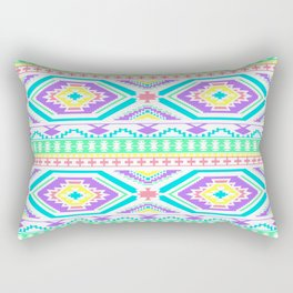 Aztec Geometric Print - Pastel bright colours Rectangular Pillow