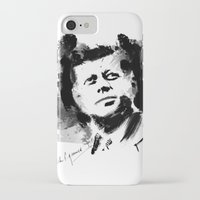 jfk iPhone & iPod Cases featuring John F. Kennedy JFK by viva la revolucion