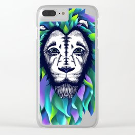 Lion, Wild life Clear iPhone Case