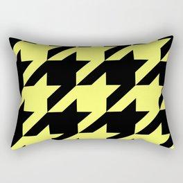 Baby Yellow Houndstooth Rectangular Pillow