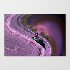 Ride the big waves with calm serenity Canvas Print
