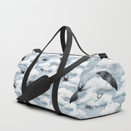 April Shower (Blue Grisaille) Duffle Bag