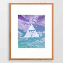 TODAY TOMORROW FOREVER Framed Art Print