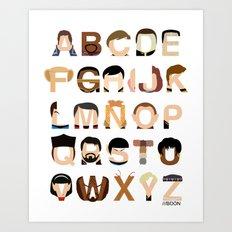 Star Trek Alphabet Art Print