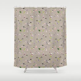 Polyhedral Dice- Alchemist's Table Shower Curtain