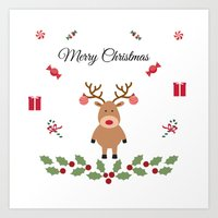 merry christmas Art Prints featuring Merry Christmas by haroulita