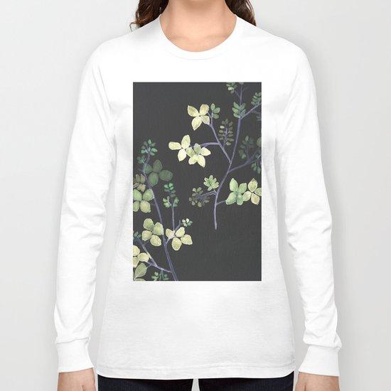 Olive Flowers Long Sleeve T-shirt