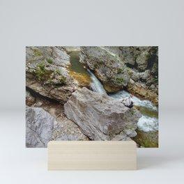 Rocks and river landscape Mini Art Print