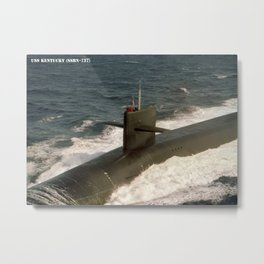 USS KENTUCKY (SSBN-737) Metal Print