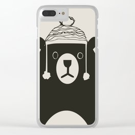Bear illustration for kids Clear iPhone Case
