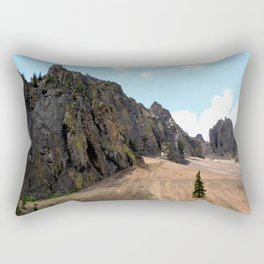 Rocky Crags above the Eureka Mine Rectangular Pillow