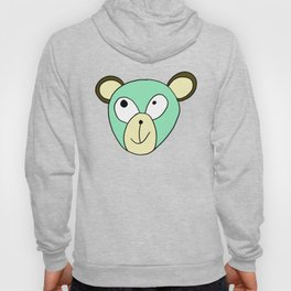 Hand drawn funny face of an animal bear Hoody
