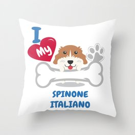 SPINONE ITALIANO Cute Dog Gift Idea Funny Dogs Throw Pillow