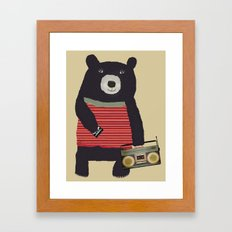 Boomer bear Framed Art Print