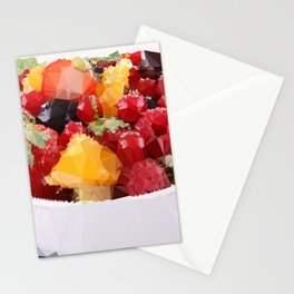 Fruits 2 Low Poly Stationery Cards