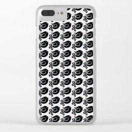 black bird Clear iPhone Case