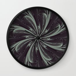 Out of the Darkness Fractal Bloom Wall Clock