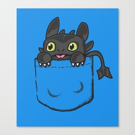 Pocket Toothless Canvas Print